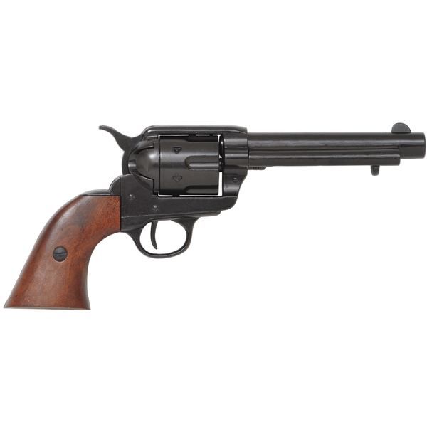 Colt Peacemaker With Wooden Handle Black Finish 1869