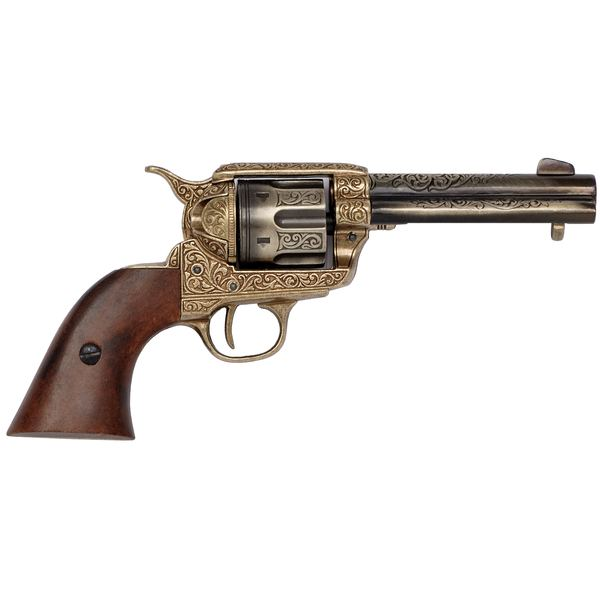 Engraved 1869 Colt With Wooden Handle