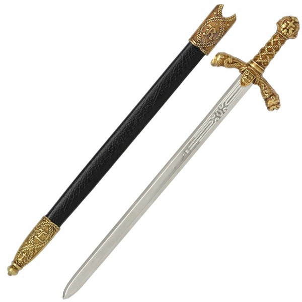 Richard the Lionheart Sword Letter Opener with Scabbard